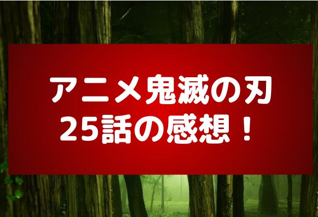 アニメ『鬼滅の刃』第25話感想!