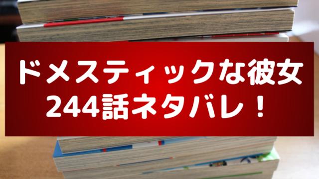 ドメカノ(ドメスティックな彼女)244話のネタバレ&感想!陽菜が瑠衣に宣戦布告?